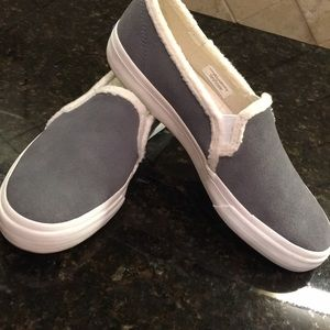 Keds Suede and shearling slide on